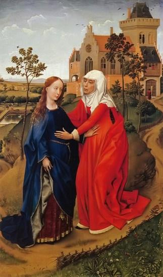 Resultado de imagen para Isabel quedó llena de Espíritu Santo; y exclamando con gran voz, dijo: «Bendita tú entre las mujeres y bendito el fruto de tu seno(…). Apenas llegó a mis oídos la voz de tu saludo, saltó de gozo el niño en mi seno